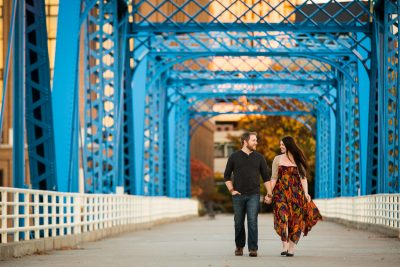 Blue Bridge Grand Rapids Michigan Photographer